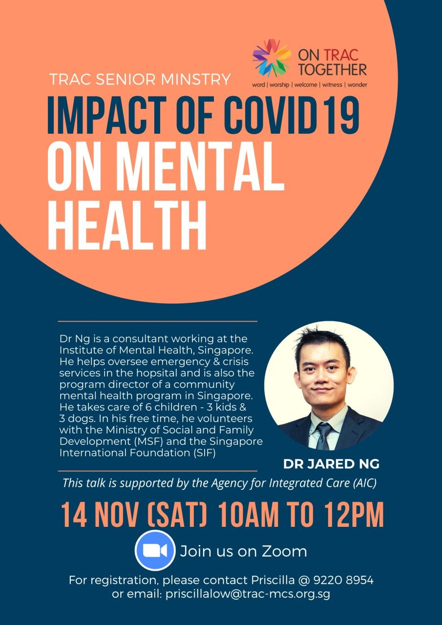 Impact of COVID-19 on Mental Health (TRAC Seniors Ministry)