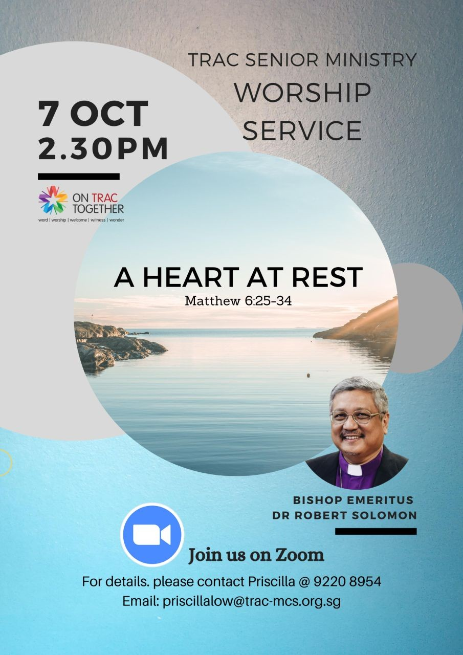 A Heart at Rest (TRAC Seniors Ministry)